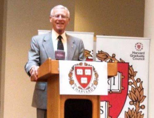 Ron speaking at Harvard University
